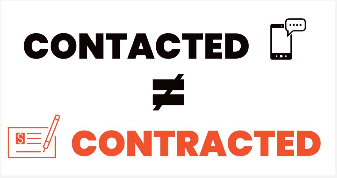 contacted does not equal contracted